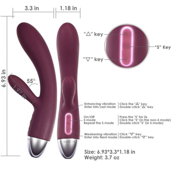 Alice Dual Motors Rabbit Vibe in Violet