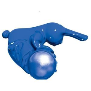 BMS Factory Power Bullet Buzz Bunny 3-Speed Penis Ring in Blue