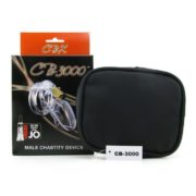 CB-3000 Male Chastity Device in Clear