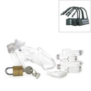 CB-6000 Male Chastity Device in Clear