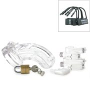 CB-X The Curve Male Chastity Device in Clear