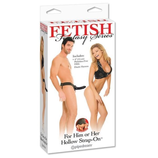 FETISH Fantasy Series For Him or Her Hollow Strap-On in Black