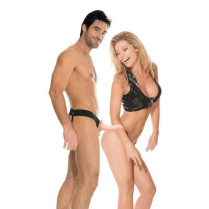 FETISH Fantasy Series For Him or Her Hollow Strap-On in Flesh