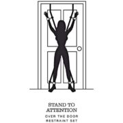 Fifty Shades of Grey Stand to Attention Over the Door Restraint Set Silver
