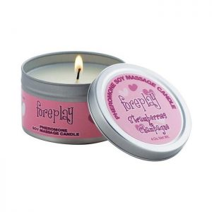 Classic Erotica Foreplay Pheromone Massage Candle in Strawberry Champagne 133g
