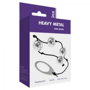Kinx Heavy Metal Anal Beads in Silver