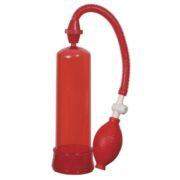 Linx Pumped Up Fire Penis Pump in Red