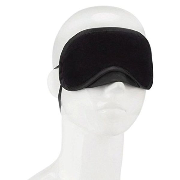 Lux Fetish Peek-a-boo Love Mask in Black