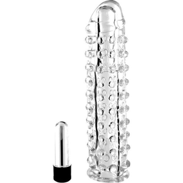 Seven Creations Vibro Penis Sleeve in Clear
