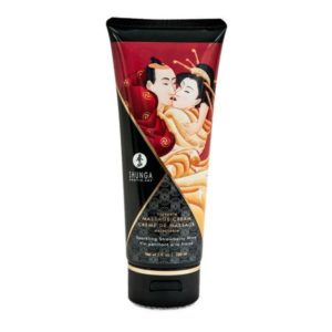 Shunga Kissable Massage Creams 200ml 7fl.oz in Sparkling Strawberry Wine