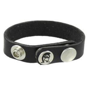 Spartacus Oiltan Leather Cock Ring Nickel Free in Black