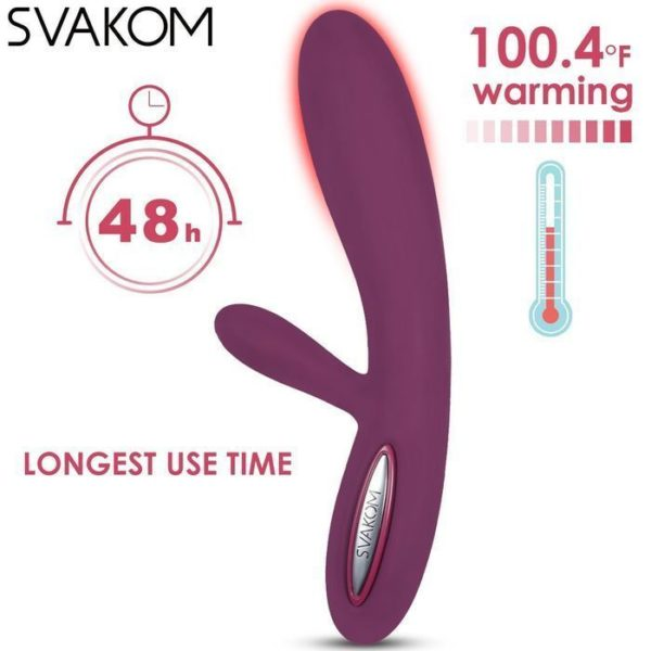 Svakom Lester Multispeed Rabbit Vibrator with Heating Function in Violet