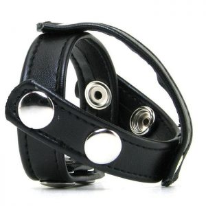 Blue Line C&B Gear T-Style Cock ring with Ball Divider