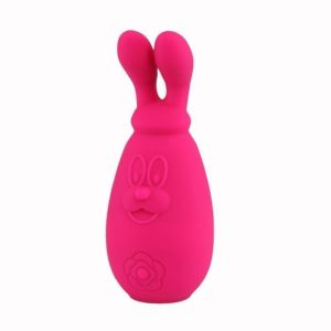 Tokyo Design Maro Kawaii 2 Rechargeable Clitoral Stimulator - Moving Rabbit Ears Vibrator in Cerise