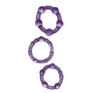 You2Toys Get Hard Cock Rings Set 3 piece in Purple
