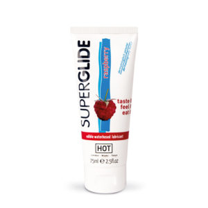 HOT Superglide Edible Waterbased Lubricant Raspberry 75ml