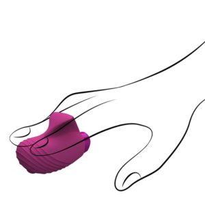 Aries Finger Massager in Raspberry Pink