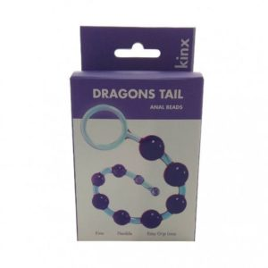 Kinx Dragonz Tail Anal Beads in Violet