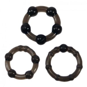 Linx Easy Squeeze Cock Ring Set in Black