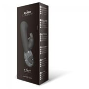The G Spot Rabbit Silicone Vibe in Black Limited Edition Crystalized