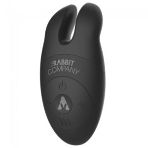 The Lay On Silicone Rabbit Vibe in Black
