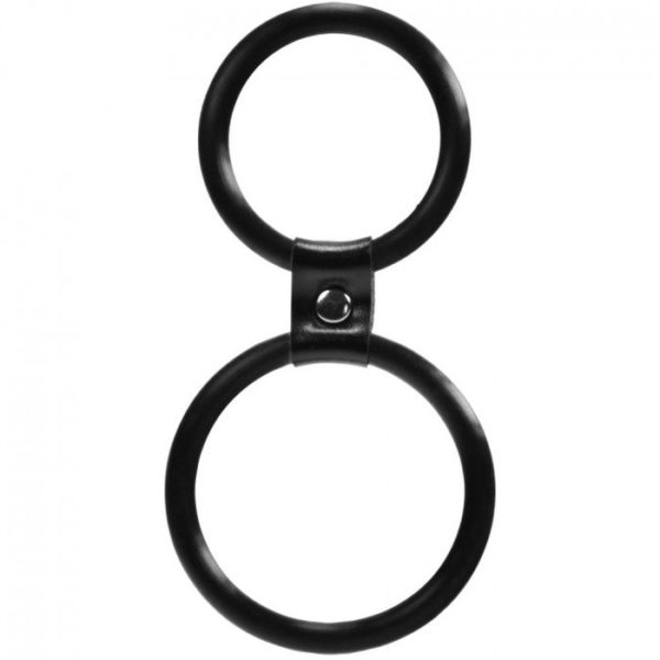 Linx Dual Ring Cock Ring in Black