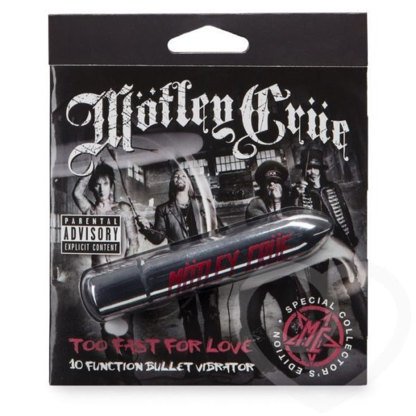 Mötley Crüe Too Fast For Love 10 Function Bullet Vibrator in Silver
