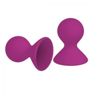 Kinx Dual Masseuse Silicone Nipple Suckers 2 Pack in Purple