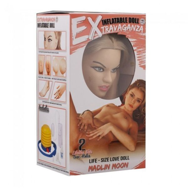 NMC Madlin Moon Realistic Vibrating Vagina and Ass Inflatable Sex Doll