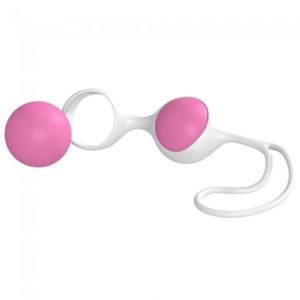 Seven Creations Discretion Love Balls in Pink-White