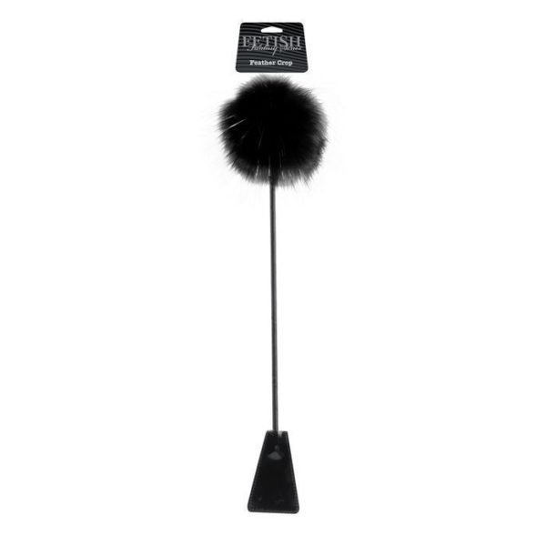 FETISH Fantasy Limited Edition Feather Crop in Black