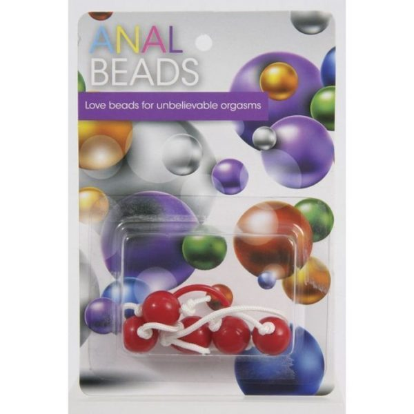 Plastic Anal Beads with String in a Pot – As Colours