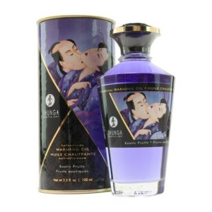 Shunga Intimate Kisses Organic Warming Oil in Exotic Fruits 3.5oz 100ml