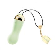 Zalo Baby Star Luxury 18K Gold Plating Bullet Vibrator in Melon Green