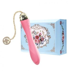Zalo Marie Luxury G-spot Vibrator 24K Gold Plating with App Control in Rouge Pink