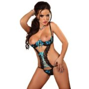 Beauty Night Glamour Teddy in Turquoise