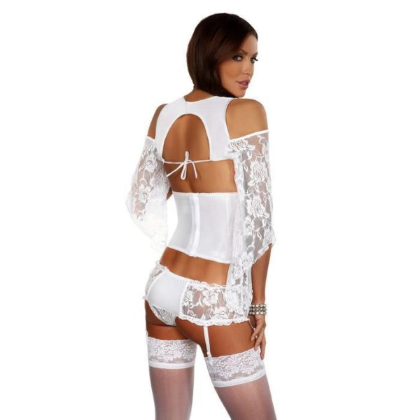 Beauty Night Priscilla Sophisticated Set in White