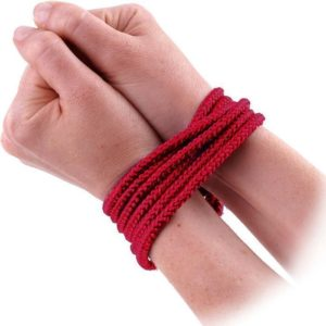 Lux Fetish Soft Bondage Rope 10 Feet (3M) in Red