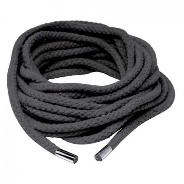 FETISH Fantasy Series Japanese Silk Rope in Black 35ft