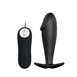 Pretty Love Remote Control Butt Plug 12 Vibration Functions in Black
