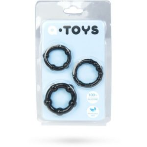 A-Toys 769004-5 Cockrings Set in Black 3 pcs
