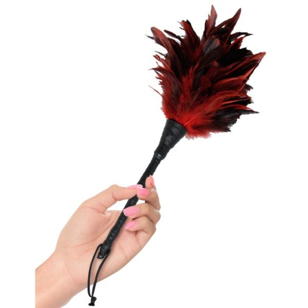 FETISH Fantasy Series Frisky Feather Duster in Red