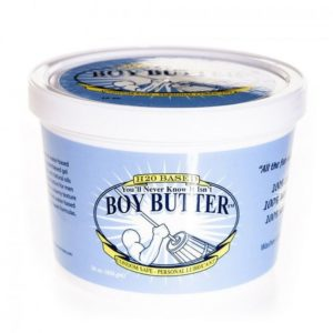 Boy Butter H2O Tub Transparent Water Based Formula 16oz 473ml