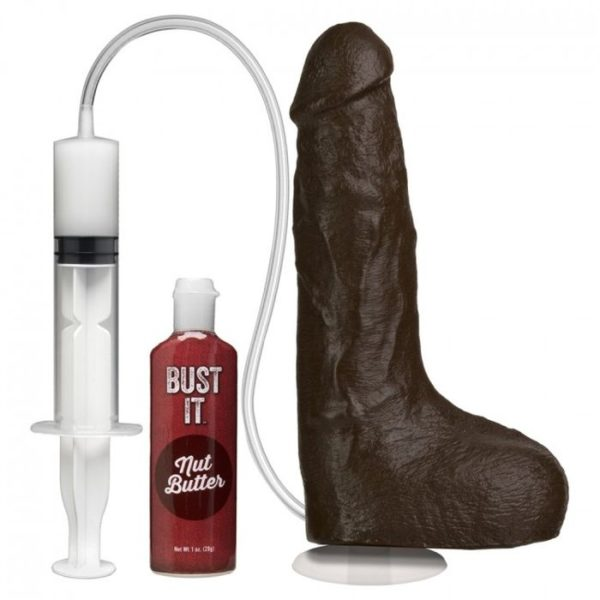 Doc Johnson Squirting Realistic Cock with Vac-U-Lock Suction Cup in Black