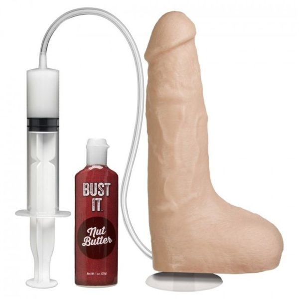 Doc Johnson Squirting Realistic Cock with Vac-U-Lock Suction Cup in White