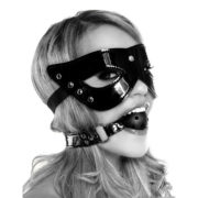 FETISH Fantasy Series Limited Edition Masquerade Mask & Ball Gag in Black