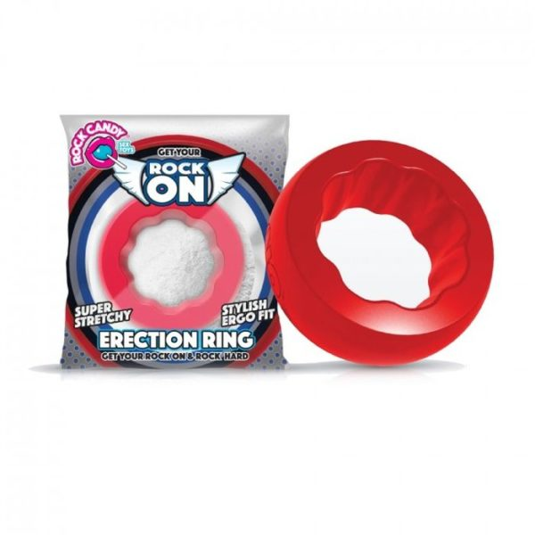 Rock Candy Sex Toys Rock On Ring Red