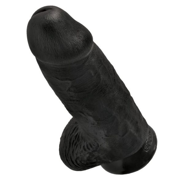 King Cock by Pipedream Chubby 9 in. 23 cm in Black
