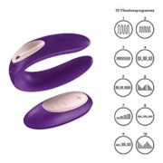 Satisfyer Partner Plus Couples Vibrator with Remote Control in Purple 10 Vibes for 2