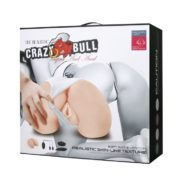 Baile Crazy Bull Masturbator with 2 Holes and Vibration in Flesh